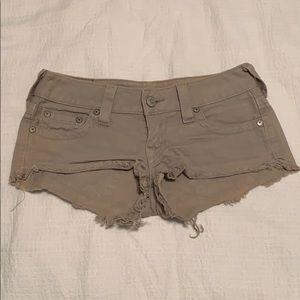 True Religion Bobby Cutoff Shorts, 27